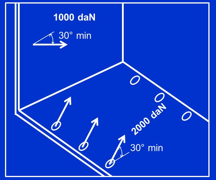 Fac-simile marcatura per veicoli con punti di ancoraggio conformi alla norma EN 12640