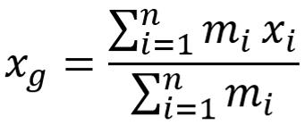 Calcolo posizione del baricentro
