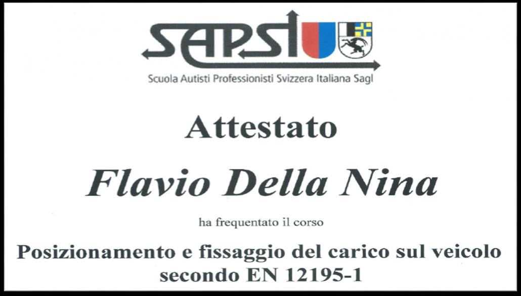 Attestato Della Nina SAPSI